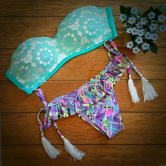 Blumenspitze Fresh Printing Sexy Bikini