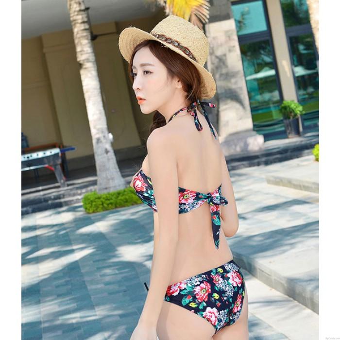 New Floral Printed Bikini Sexy Frauen Halter Beachwear Bademode