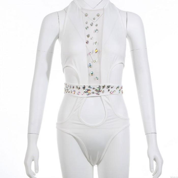 Sexy Perspective Summer Badeanzug Diamond Siamese Bikini
