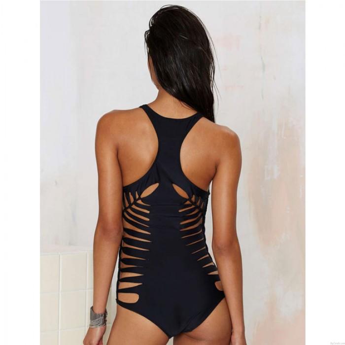 One-piece Badeanzug-Bikini-gesetzte Badebekleidung schwarzen Badeanzug