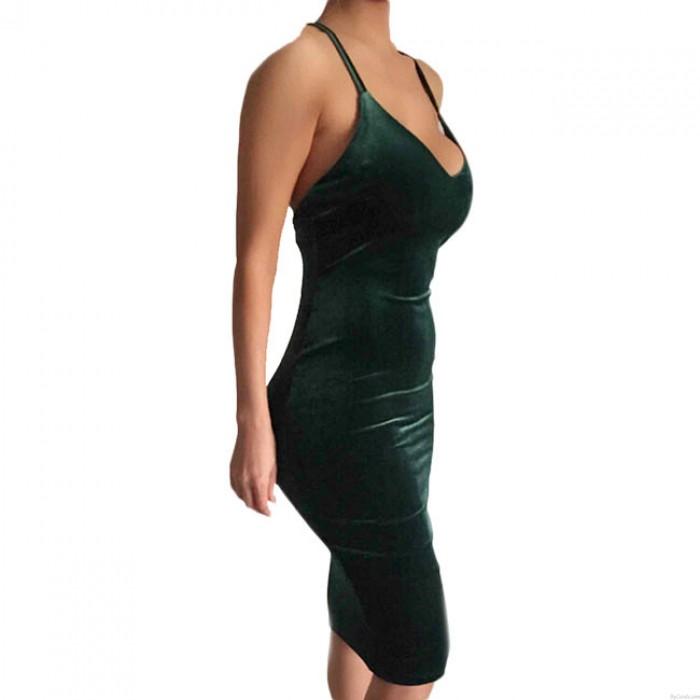 Sexy Frauen Rückenfreie Crossover Straps Hosenträger Rock Kleid