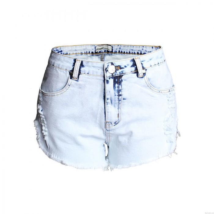 Neu Hoch Taille Loch Jeans Gewaschen Blitz Denim Kurze Hose Plus Größe Frau Kurze Hose