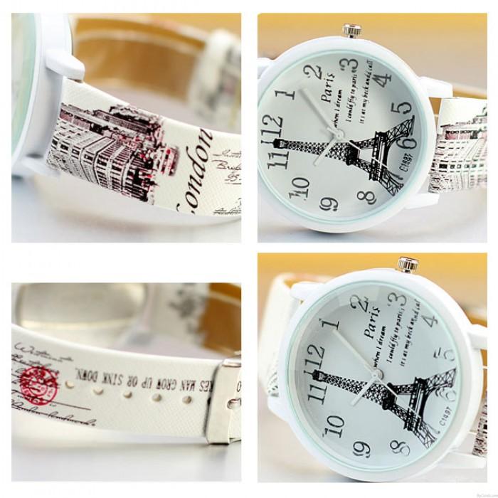Süße Paris Eiffelturm Quarzuhr Damen Studenten Casual Uhren