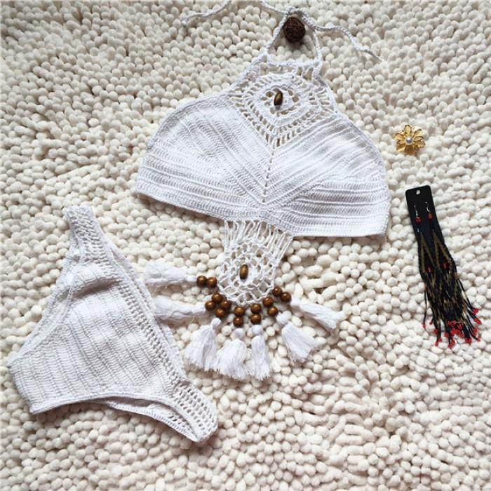 Handgefertigt Häkeln Badeanzug Sexy Bikini Badeanzug