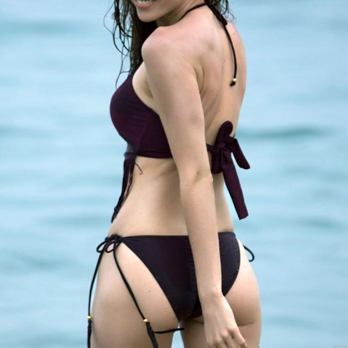 Neue Sexy Quaste Bikini Set Frauen Pure Aushöhlen Badeanzug