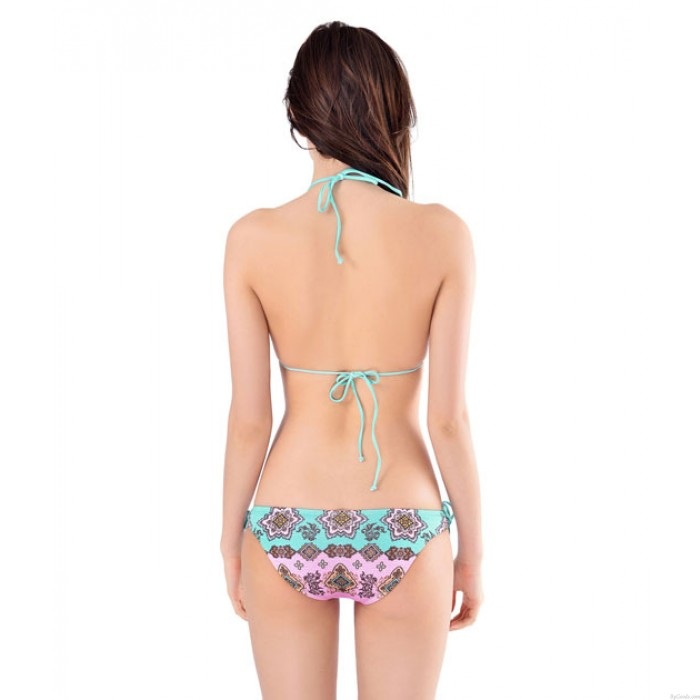 Lucky Sambo Druck Bikini SEt Badeanzug Bademode Badeanzug