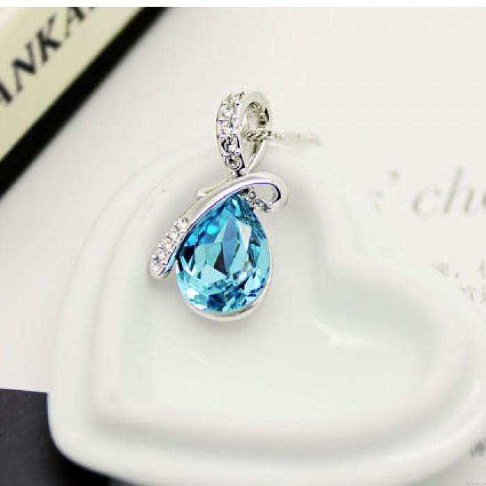 Diamant Engel Tränen Kristall Halskette