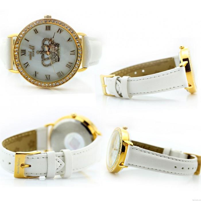 personalisierte Strass Krone Polymer Lehm Uhr