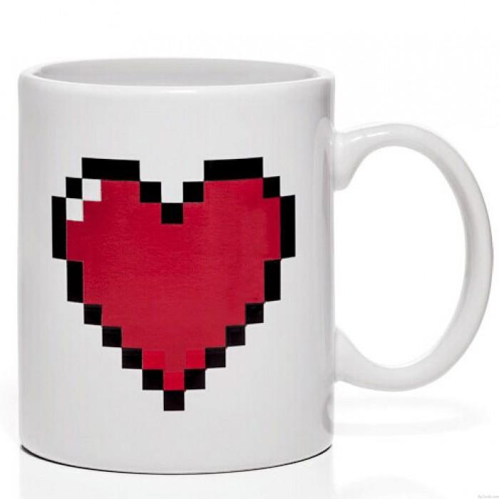 Liebhaber-Geschenk-Pixel-Herz-Druck-Farbändernde Schale