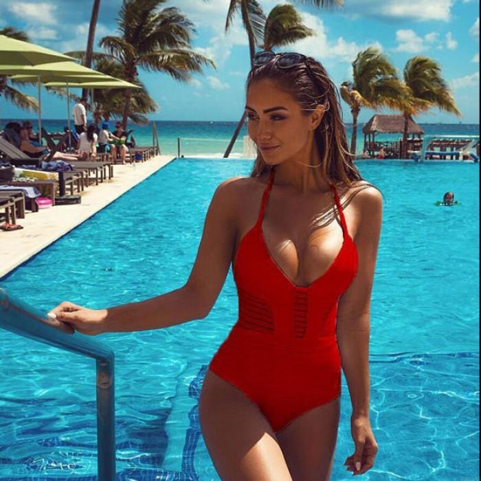 3-Color Summer Sexy Aushöhlen Bikini Einteilige Bademode