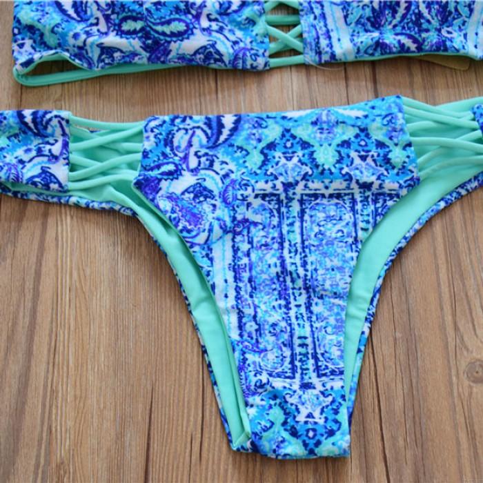 Wandbild Druck Bikini doppelseitige Split Badeanzug