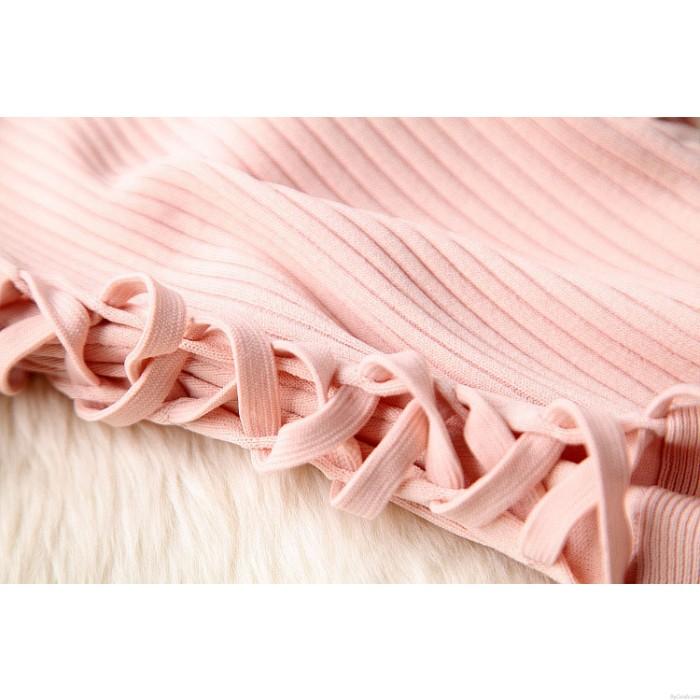 Gestricktes handgemachtes Mosaik Webart-Schwingen-dünnes Kleid-Partei-Kleid