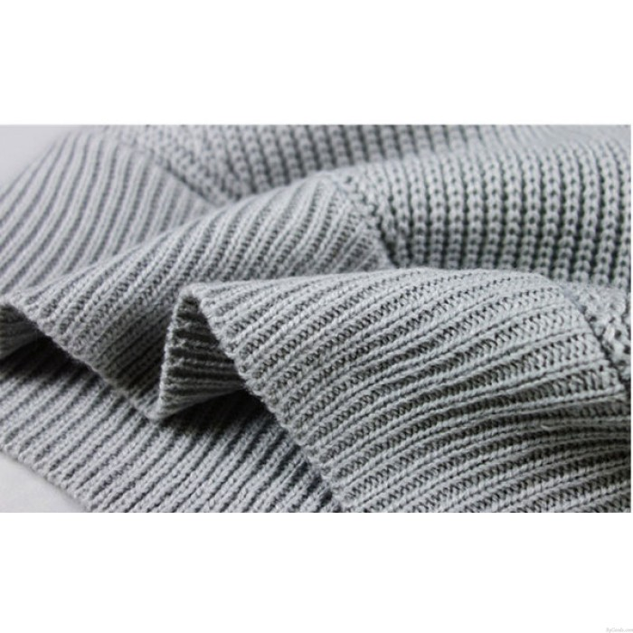 Mode Bekleidung Damen V-Ausschnitt aus Schulter Gestrickt Wickeln Sweatshirt Zur Seite fahren