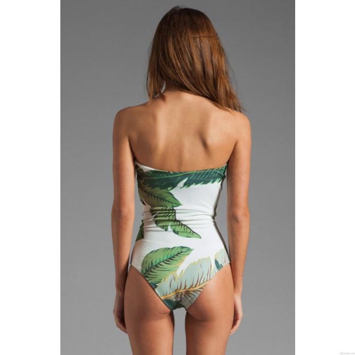 BH Banane Blatt drucken Siamese Bikinis Einzigartige V-Ausschnitt Bademode