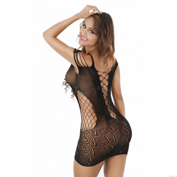 Sexy Mesh Aushöhlen Dessous Set Siamese Rock Tight Teddy Bodysuit Net