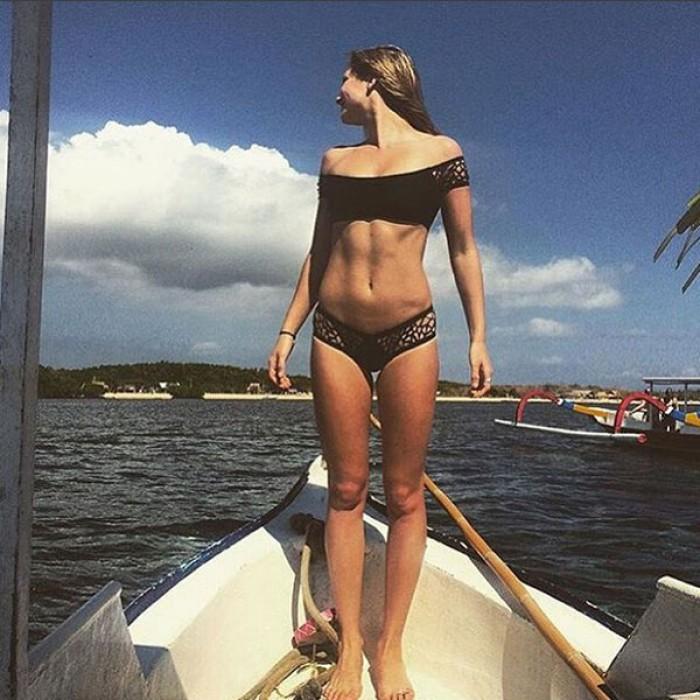 Neue Frauen Pure Aushöhlen Bikini Sexy Badeanzug Anzug Badebekleidung