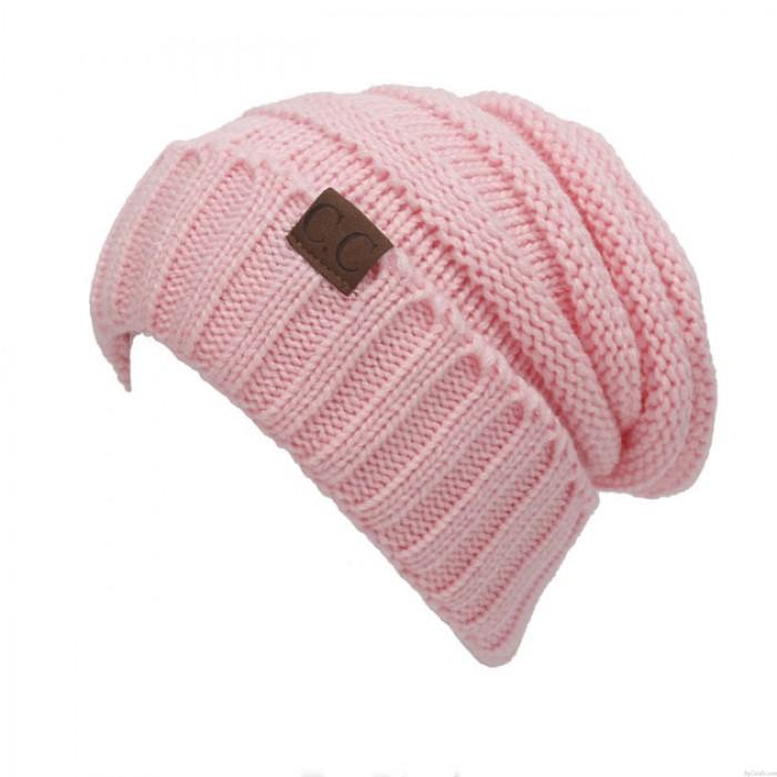 Frauen stricken Beanie Hüte Toasty Beanie warme Wolle stricken CC Hut