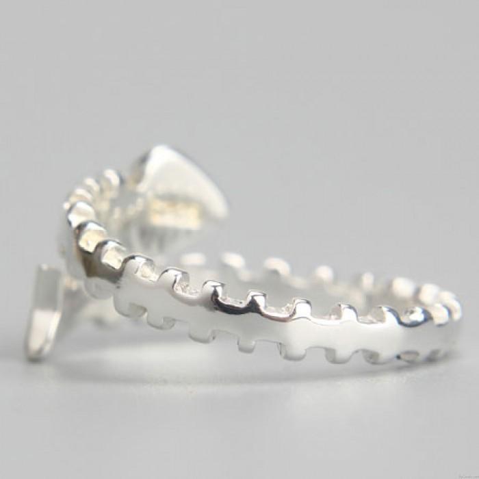 Silber schönen Gräten Öffnungs Ringe personalisierte Mädchen Ringe