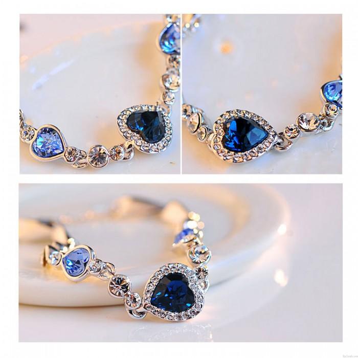 Romantische Liebe Herz Kristall Armband