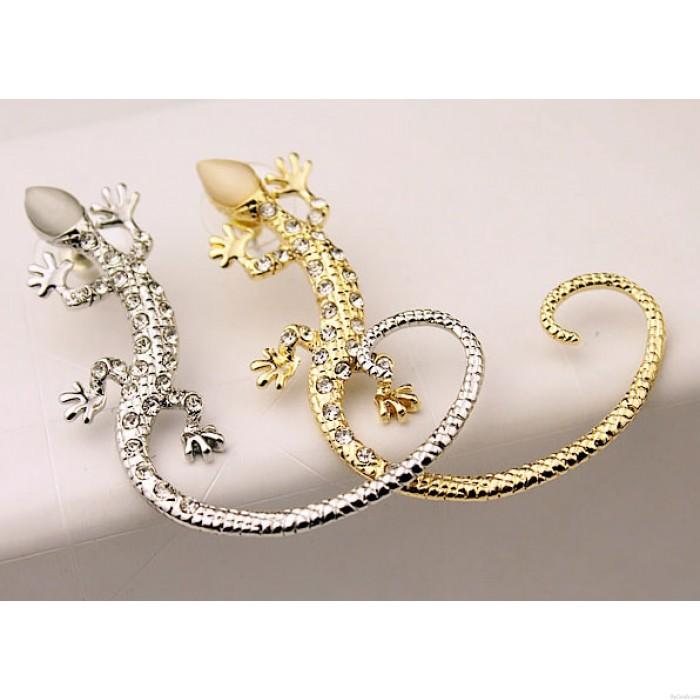 Nachtclub Eingebettet Diamant Punk Gecko Ohrringe