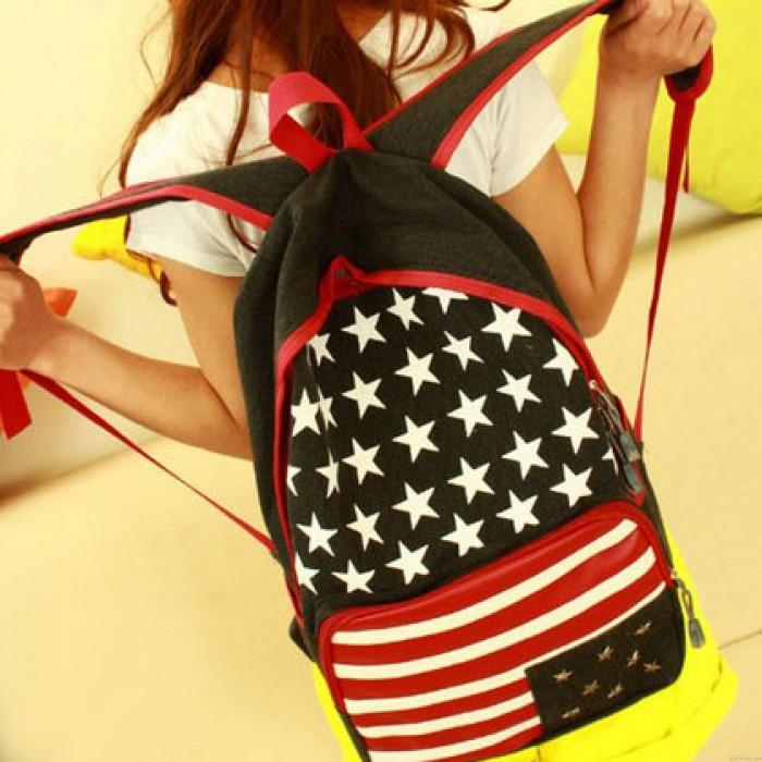 Art- und Weiseflagge Niet Segeltuch Rucksack
