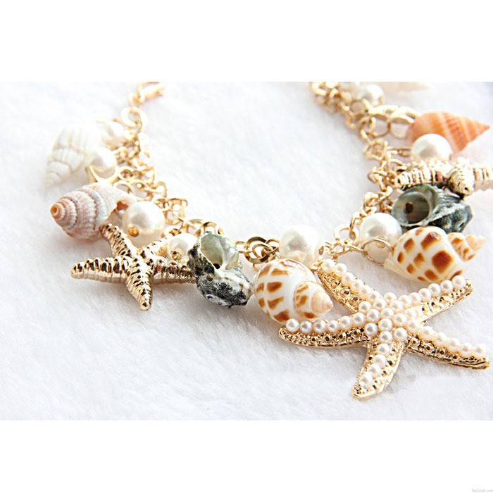 Conch Seestern Sommer Strand Armband