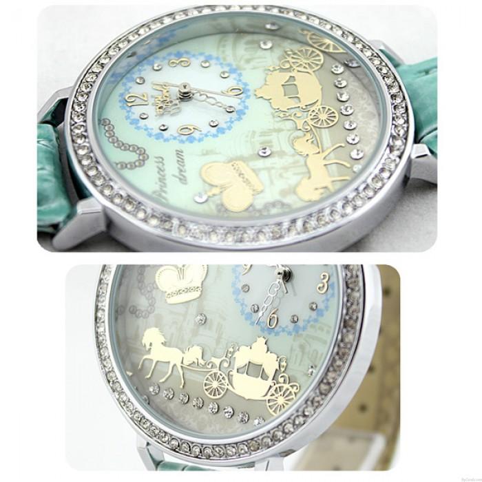 Krone Strass Trimmen Polymer Lehm Uhr