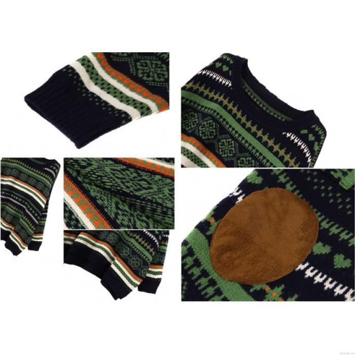 Vintage Folk Style Fledermaus Ärmel Pullover & Strickjacke