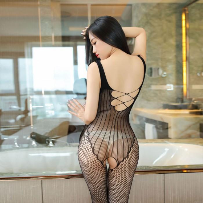Sexy Unterwäsche Hohlweste Siamese Fishnet Mesh Teddy Bodysuit Stockings Intimate Dessous