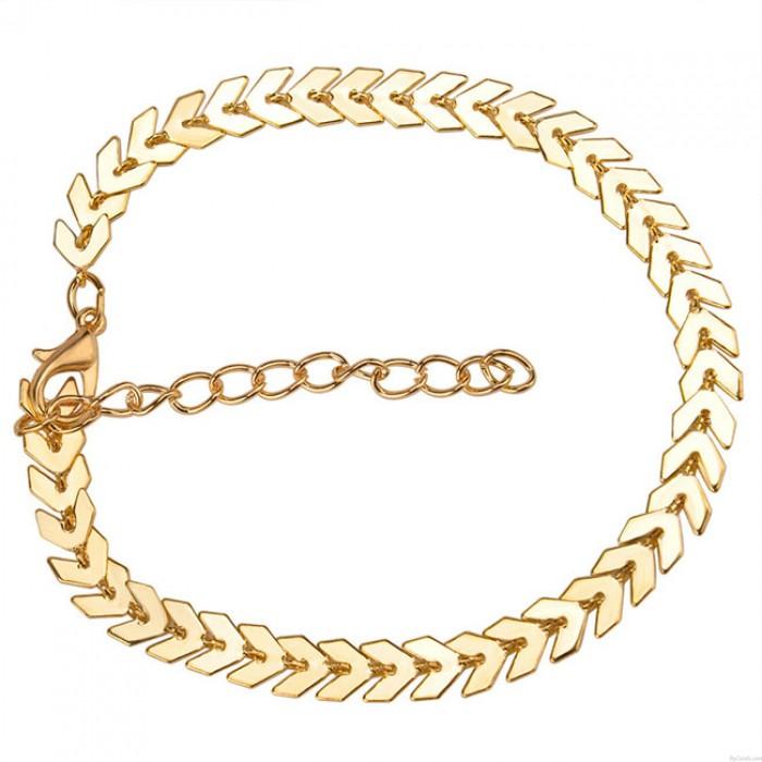 Freizeit Böhmen Einfache Blätter Pfeil Frauen Armband
