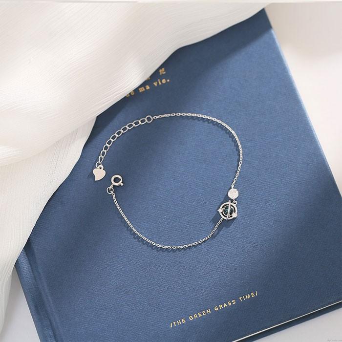 Einzigartig Design Kristall Planet Silber Dame Armband