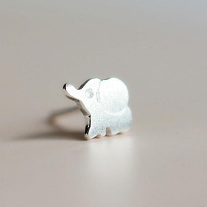 Frisch Mode Niedlich Elephant S925 Sterling Ohrring