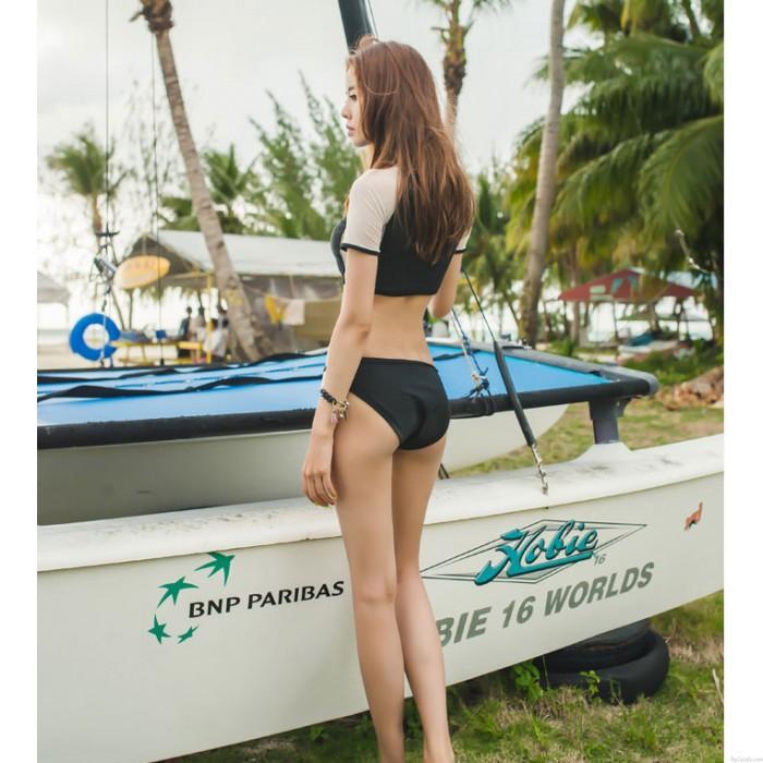 Nähen Perspektive Bikini Sexy Frauen Constast Farbe Beachwear Bademode