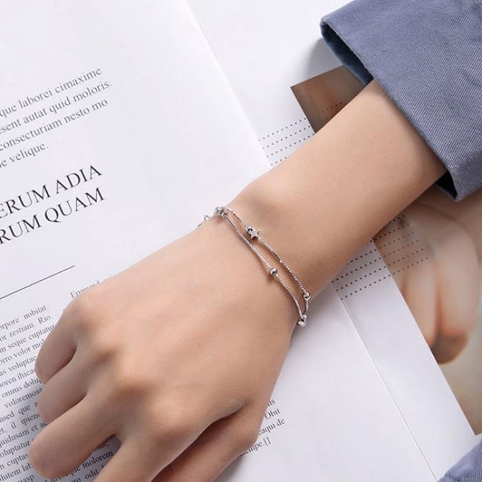 Süße Doppelsterne Schicht Armband Freundinnen Geschenk Schmuck Liebhaber präsentieren Frauen Armband