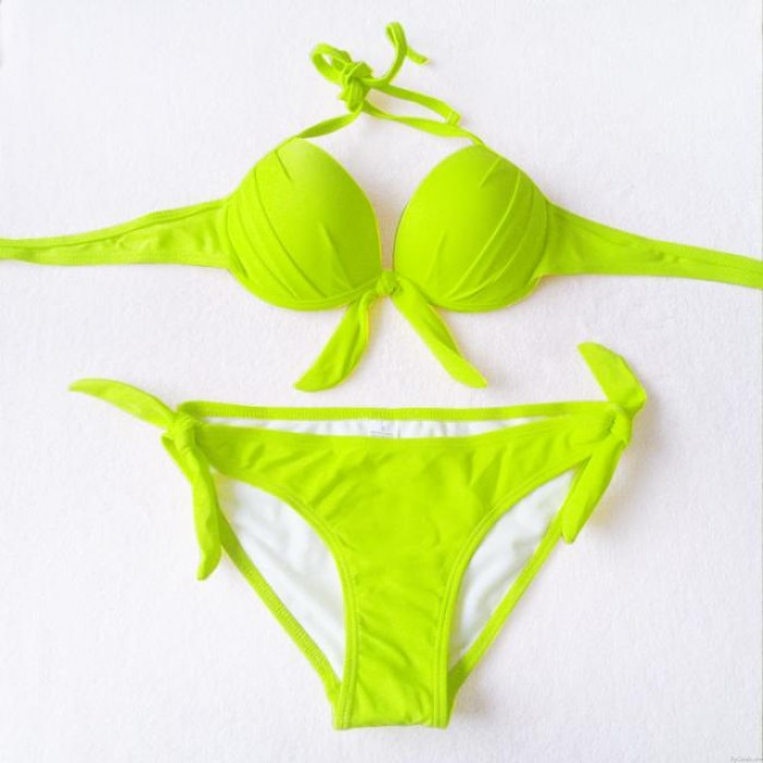 Sexy Steel Breast Care Bow Bikini-Badeanzug