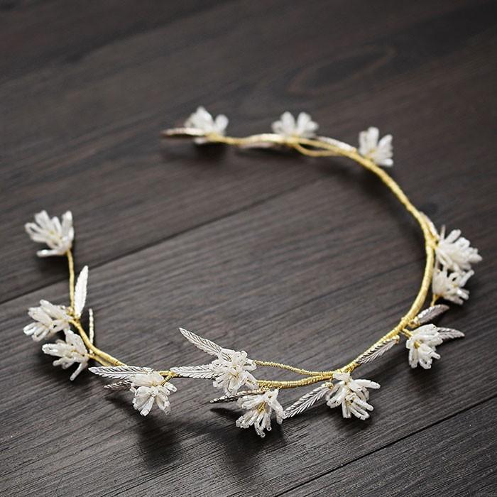 Mode einzigartige Blume Zweig handgemachte Brautjungfer Haarband Braut Haar Accessoires