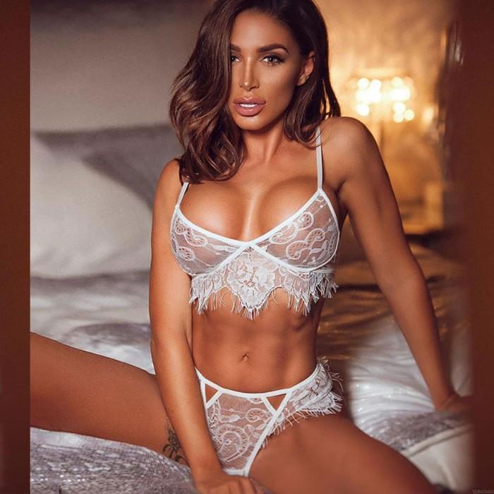 Frauen Spitze Halter aushöhlen Sexy Dessous Anzug Unterwäsche