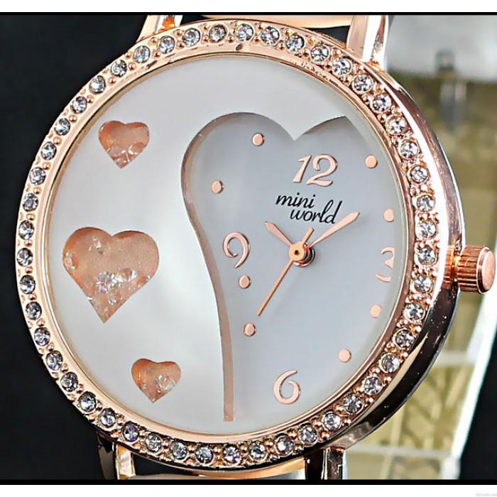 Liebhaber Strass Trimmen Süß Kristall Uhren