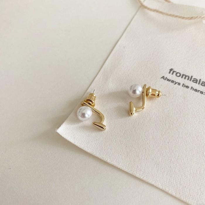 Mode Perle Bohnen Einfache AAA-Qualitätsohrringe für Frauen Geschenk für ihre silbernen Ohrstecker