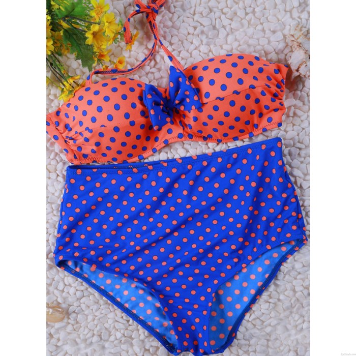 Frischer Retro Sexy High Waist Beach Badeanzug Split Bikini