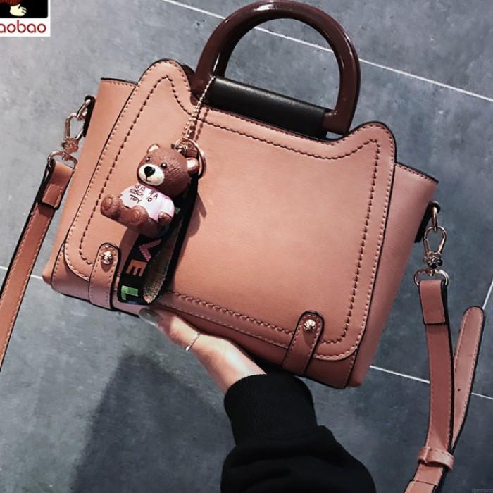 Elegante große neue Bär Dekor Frauen Handtasche Umhängetasche