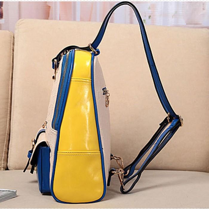Mode Kontrast Farbe Preppy-Schule-Rucksack