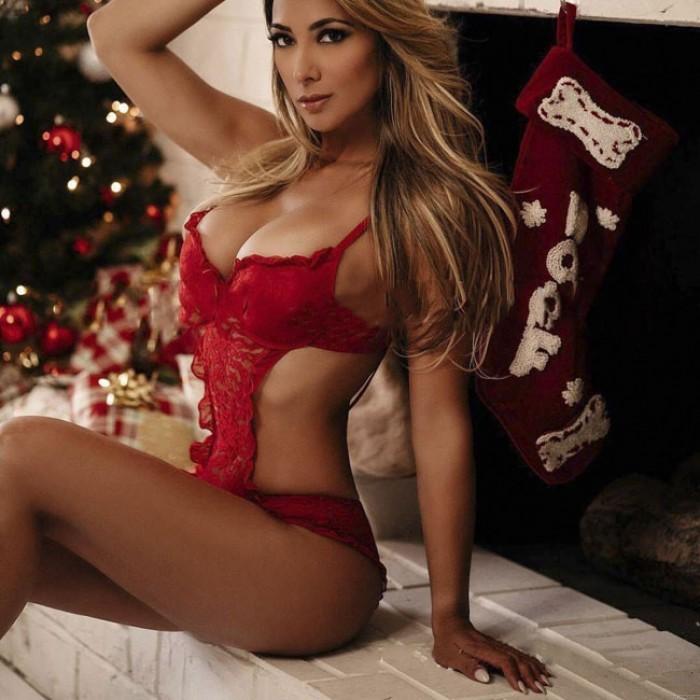 Sexy einteiliger Bogen heiße Frauen rote Spitze Dessous