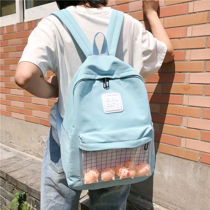 Schöne Cartoon-Ente Elefant Schwein Puppe Student Tasche einfache Schulrucksack