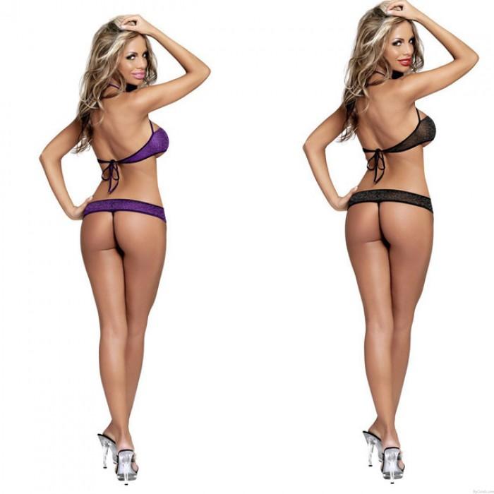 Sexy Transparente Drei Punkte Seil Siamese Damen Dessous