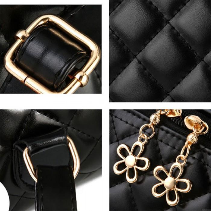 Frisch Quilted Rucksack Blume Reißverschluss Schultertasche Bär Handtasche