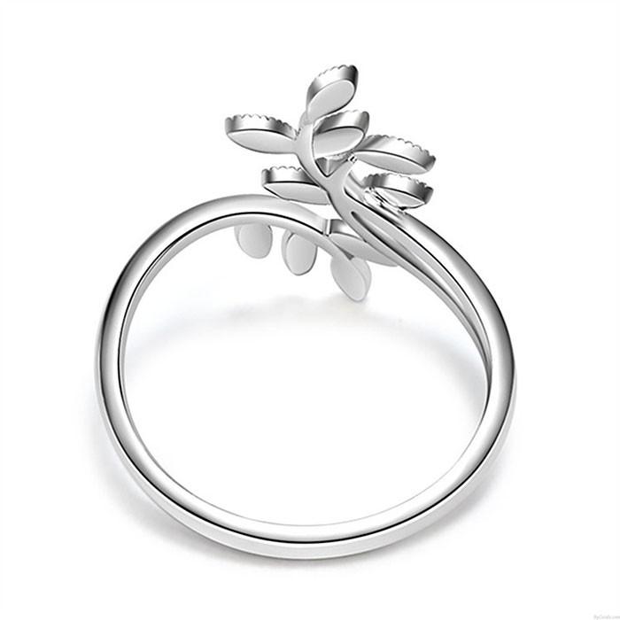 Niedliche Blätter Zweig personalisierte Weidenblatt Frauen Ring