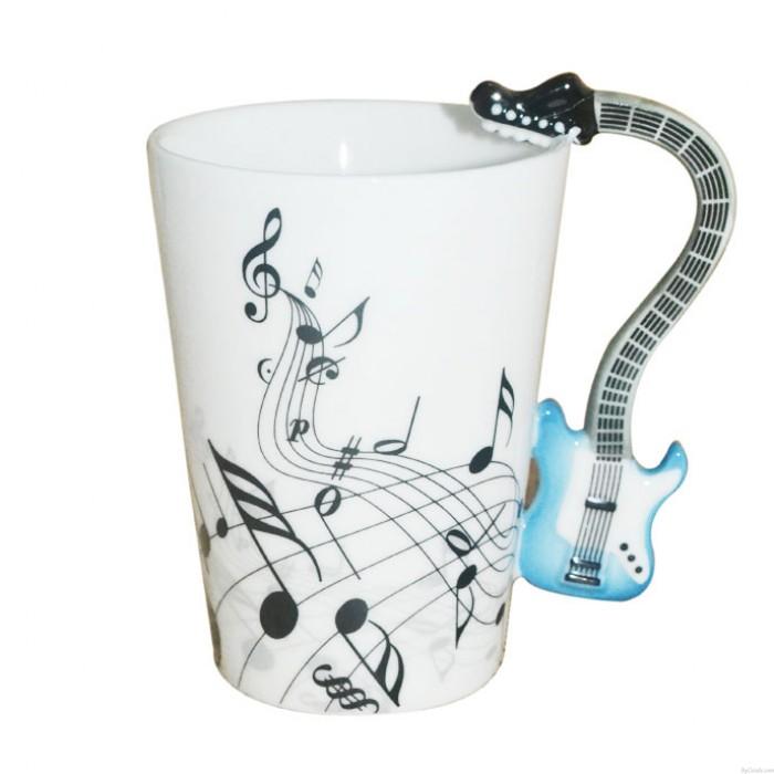 Lustige kreative Geschenk-Blatt-Anmerkungs-Musik-Gitarren-Becher-Schale