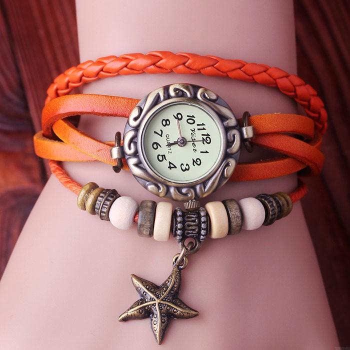 Romantiker Star Weben Armband Uhr