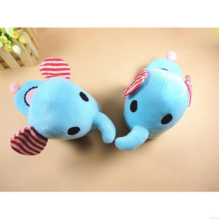 Tolles Weihnachtsgeschenk: Elefant Cartoon Plüsch weiche Minion Schuhe